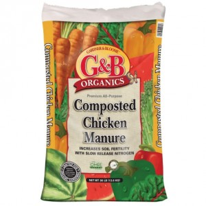 G&B ORGANICS COMPOSTED CHICKEN MANURE (30 Pounds)